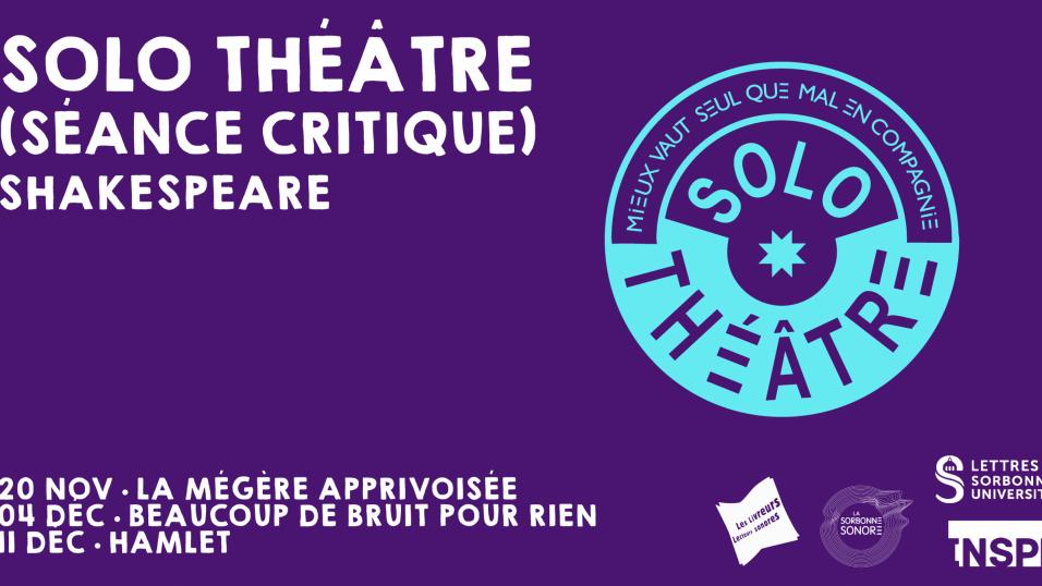 Les Solo Théâtre critiques