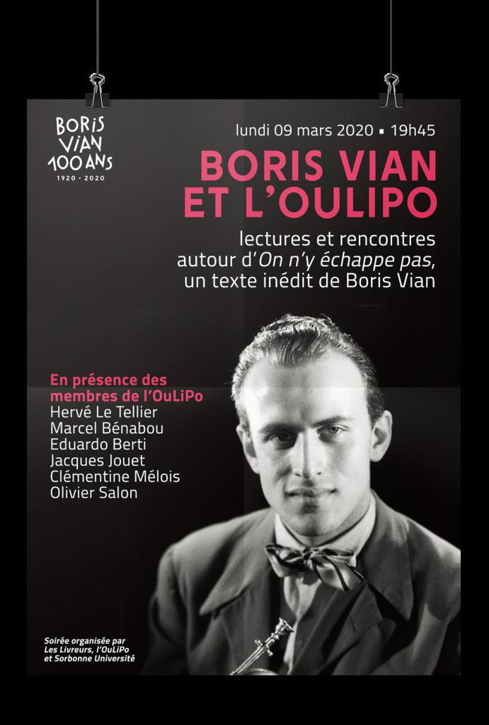 Soirée Boris Vian et l'Oulipo